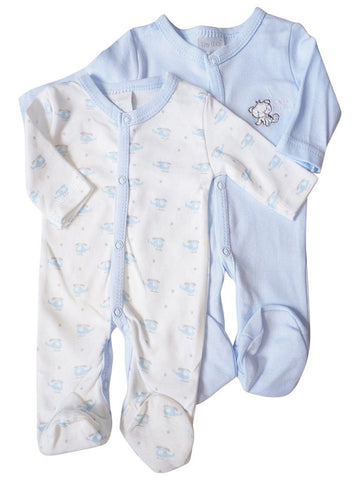 2 Pack 'Cute Little One' & Helicopter Sleepsuit  (3-5lb & 5-8lbs)