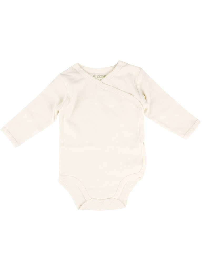 Organic Cotton Cream White Long Sleeve Vest (5-8lb)