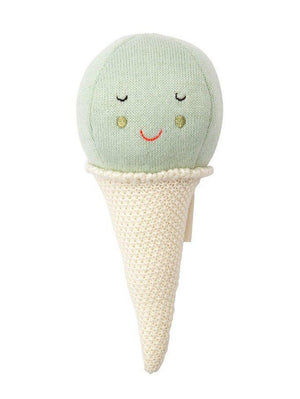 Mint Ice Cream Cone Rattle, Meri Meri
