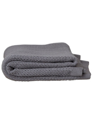 100% Cotton Cellular Baby Blanket - Grey
