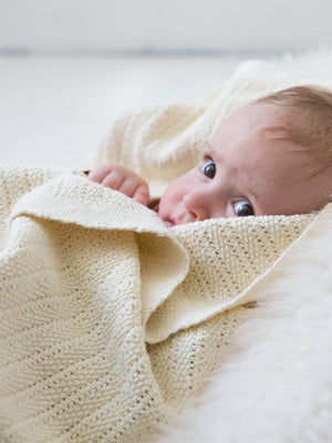 100% Cotton Cellular Baby Blanket - Cream
