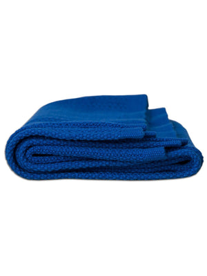 100% Cotton Cellular Baby Blanket - Blue