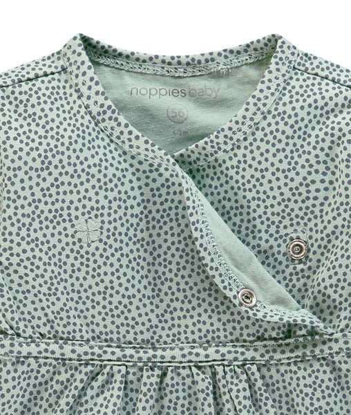 Tiny Baby Size Dress - Grey Mint, 4-7lb