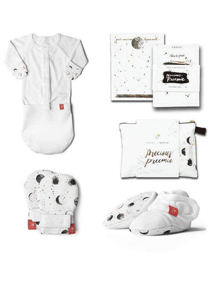 Premature Baby Gift Set - Sleeping Bag, Mittens, Booties & Milestone Cards (3-6 lbs) - Set - Goumikids
