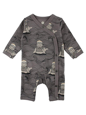 Luxury Grey Walrus & Waves Wrapover Sleepsuit (3-5lb & 4-7lb)