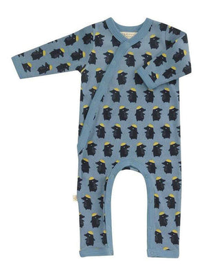 Blue Woodland Mole Sleepsuit by Pigeon Organics (Newborn)
