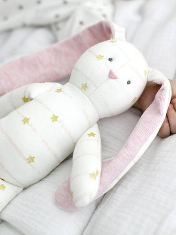 Stripe Star Print Bunny - Gorgeous Soft Toy By Albetta