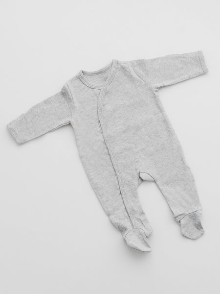 GOTS organic Cotton Sleepsuit - Grey (3.5lb-5.5lb & 5.5lb-7.5lb)