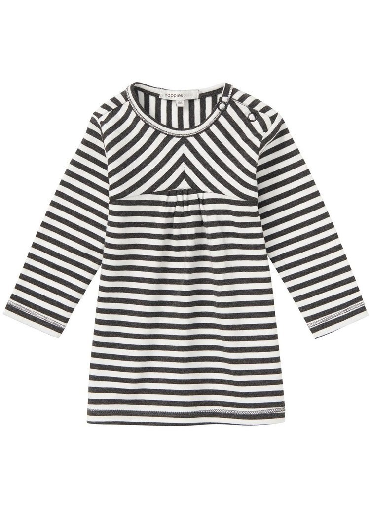 Black & White Stripe Organic Cotton Tiny Baby Dress (4-7lb)