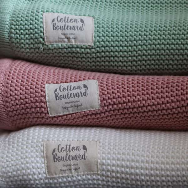 Organic Cotton Knitted Blanket - White