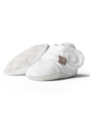 Stay-on Baby Boots, Cream Diamond Dots (0-3 Months)