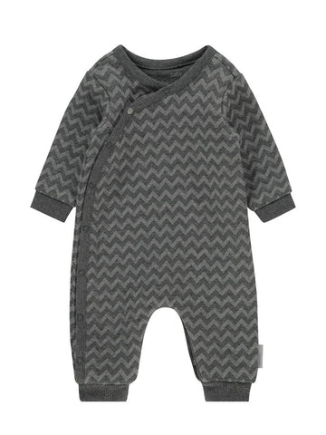 Grey Zig Zag Tiny Baby Sleepsuit (4-7lb)