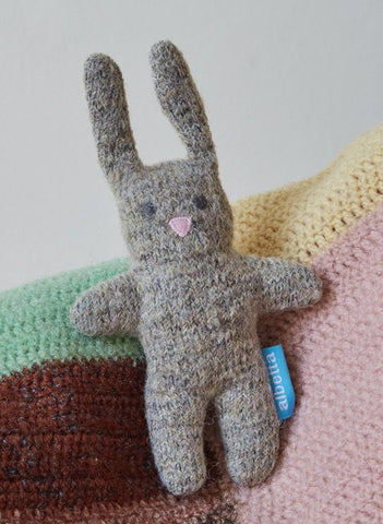 Soft Knit Cute Bunny Rattle - rattle - Albetta UK - Little Mouse Baby Clothing & Gifts