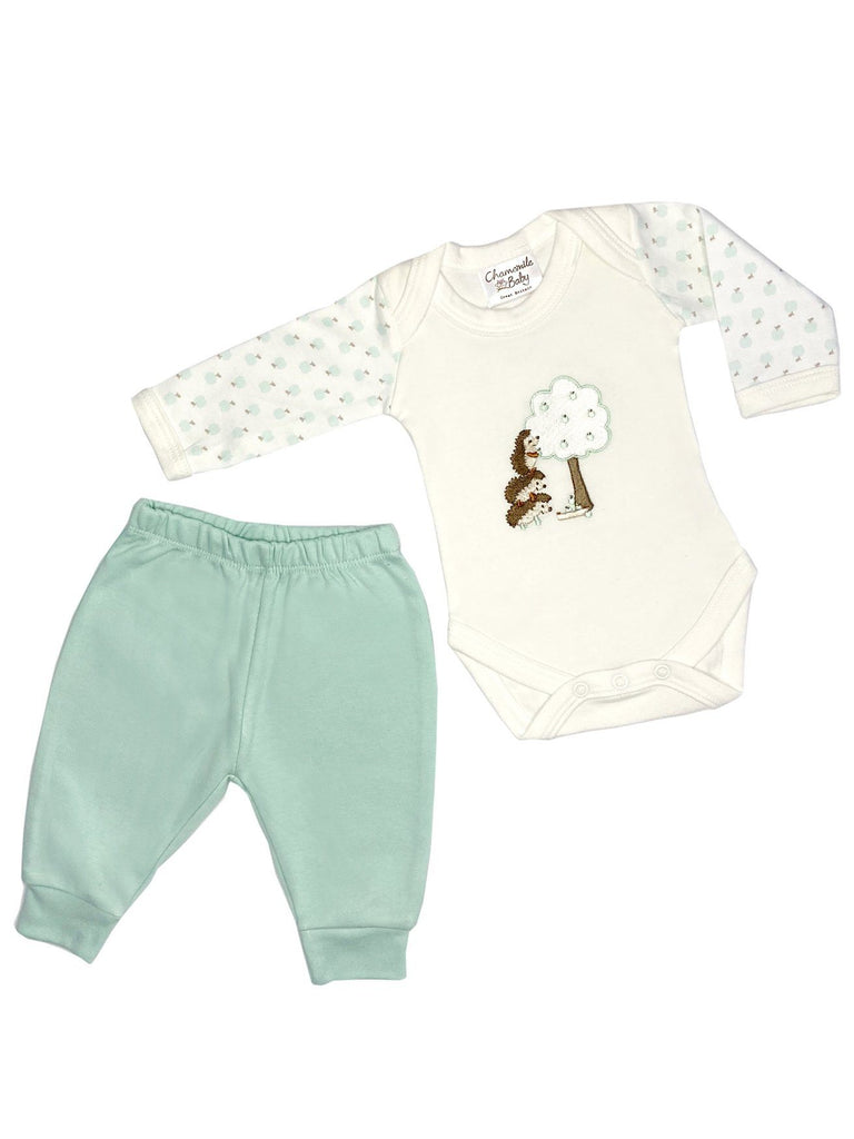 Little Hedgehogs Gift Set: Bodysuit & Trousers (Newborn & 0-3 months)