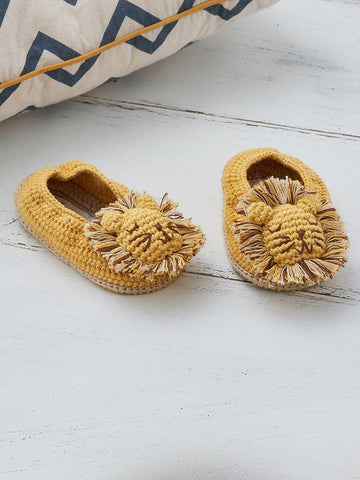 Crochet Lion Booties (0-6 Months)