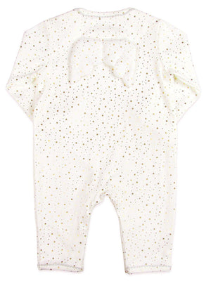 Angel Wings Gold Star White Babygrow by Albetta (0-3 Months)