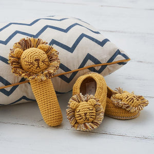 Crochet Lion - Gorgeous Little Stick Rattle By Albetta