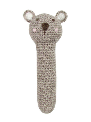 Crochet Teddy Bear - Gorgeous Little Stick Rattle By Albetta