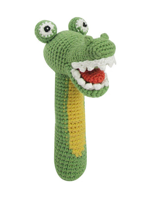 Crochet Crocodile - Gorgeous Little Stick Rattle By Albetta