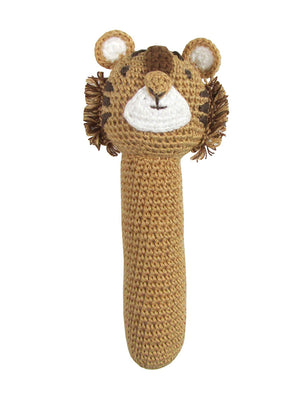 Crochet Tiger - Gorgeous Little Stick Rattle By Albetta