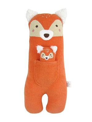 Albetta Cute Towelling Fox Toy with Baby Fox (28cm tall)