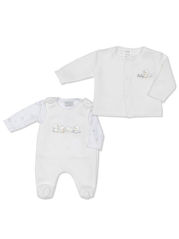 Little Chick Dungaree 3 piece set 3-5lbs & 5-8lbs