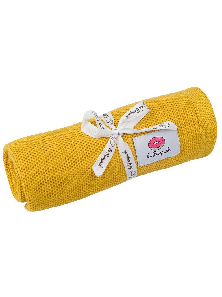 Antibacterial Bamboo Blanket with Silver - Mustard