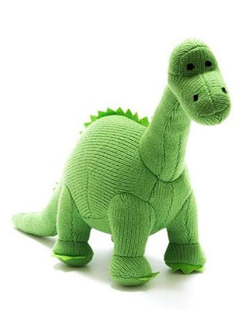 Crochet Diplodocus Rattle, Green