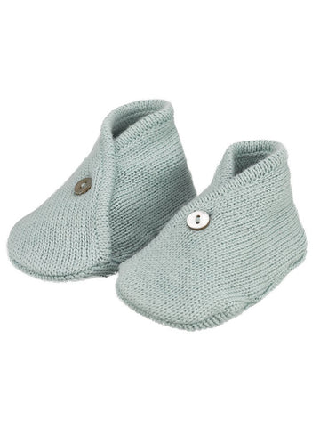 Knitted blue booties - Organic (0-3 Months)