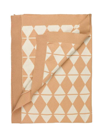 GOTS Certified Organic & Fair Trade Cotton Blanket - Triangle Print