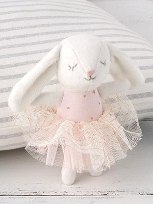 Mini Velvet Ballet Dancer Bunny Toy by Albetta