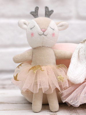 Mini Velvet Ballet Dancer Deer Toy by Albetta