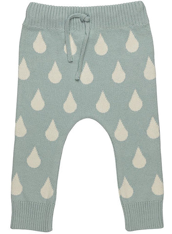 Knitted Big Drop Trousers - Organic (Tiny & 0-3 Months)