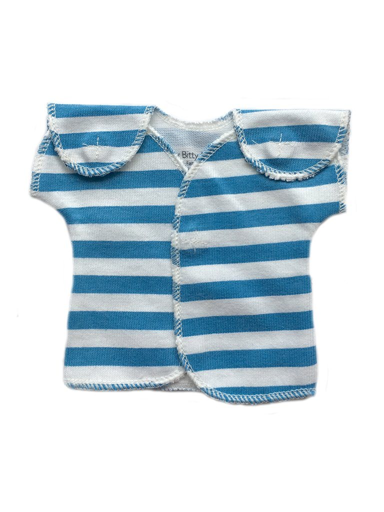 Blue Stripe wrap over top (Premature Baby, 1-3lb)