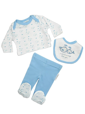 Blue Whale 3 Piece Gift Set: Top, Trousers & Hat (3-5lbs & 5-8lbs)