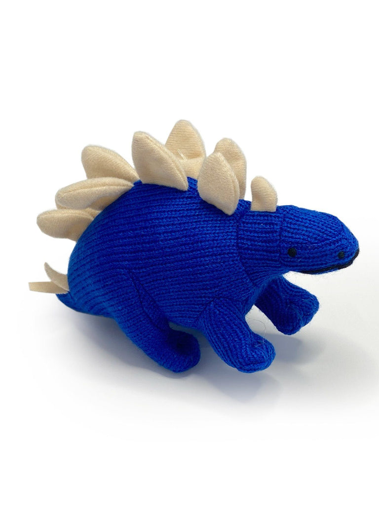 Crochet Stegosaurus Rattle, Blue
