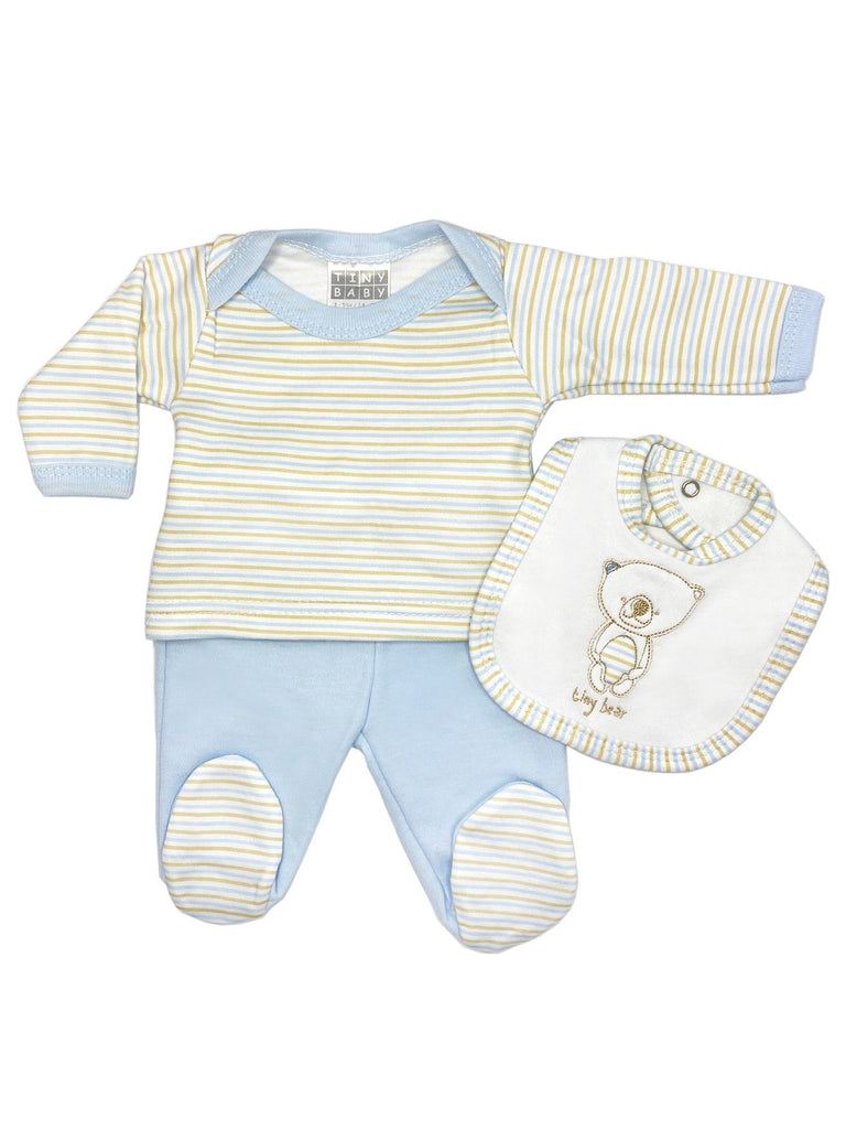 'Tiny Bear' Blue Stripe 3 Piece Set (3-5lb & 5-8lbs)