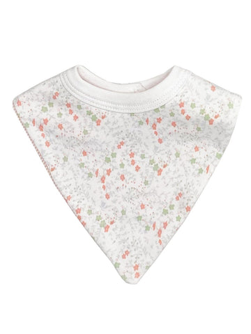 Floral Print Cotton Dribble Bib (Newborn)