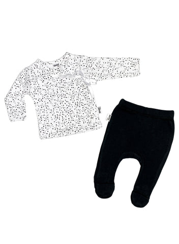Speckles Print 2 Piece Set (Top & Leggings), 4lb-6lb