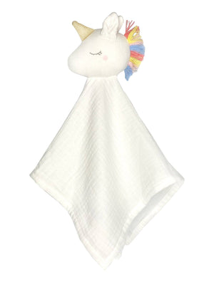 White Unicorn Muslin Comforter - 100% Organic Cotton