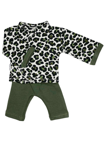 Wrap Shirt & Trouser Set, Leopard Print, 1.5-3lb & 3-5lb