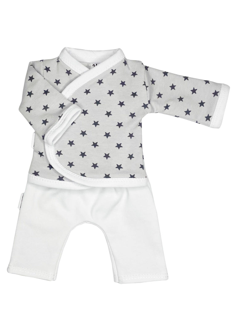 Wrap Shirt & Trouser Set, Grey Star, 1.5-3lb & 3-5lb