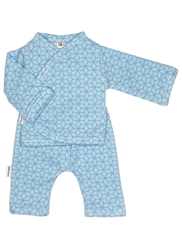 Shirt & Trouser Set, Modern Graphic Blue, 1.5-3lb & 3-5lb