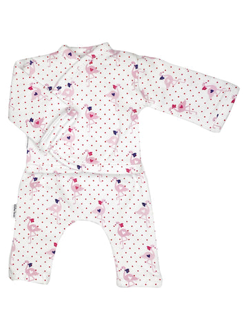 Shirt & Trouser Set, Flamingos, 1.5-3lb & 3-5lb