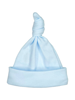 Light Blue Knotted Premature Baby Hat (1lb-3lb & 3-5lb) - Hat - Little Mouse Baby Clothing & Gifts