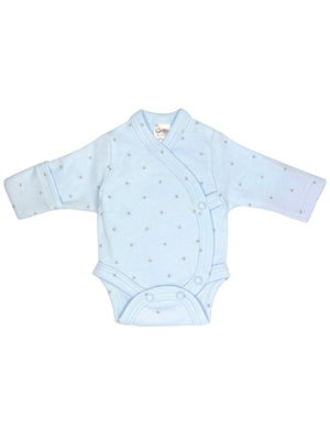 Early Baby Bodysuit - Blue with Stars (3-5lbs)