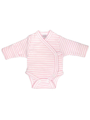 Early Baby Bodysuit - Pink with Stripes (3-5lbs)