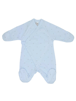 Early Baby Footed Sleepsuit - Blue with Stars (3-5lbs)