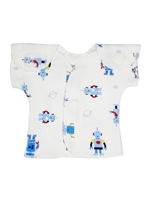 Robot wrap over top (2 sizes 1-3lb, 3-5lb) - Incubator Vest - Itty Bitty Baby Clothing
