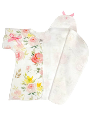 Delicate Floral  Wrap Dress (Prem 1-3lbs & 3-5lb)